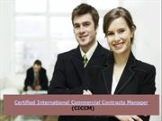Certified International Commercial Contracts Manager