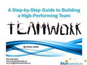 Building a high performing team Preview