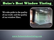 Professional car window tinting in Idaho