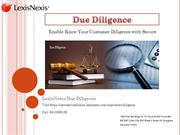Ensure Your Customer by  Customer Due Diligence Services