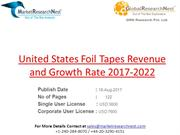 Foil Tapes Revenue and Growth Rate 2017-2022