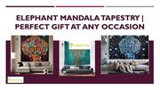 Elephant Madala Tapestry  Perfect Gift At Any Occasion