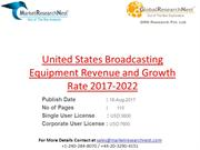 United States Broadcasting Equipment Revenue and Growth Rate 2017-2022