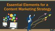 Essential Elements for a Content Marketing Strategy