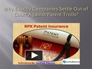 Why Exactly Companies Settle Out of Court Against Patent Trolls