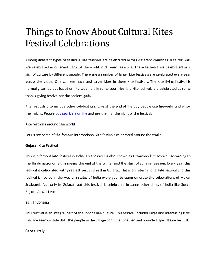 4  Things to Know about Cultural Kites Festival Celebrations