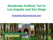 Residential Artificial Turf in Los Angeles and San Diego - Fivestartur