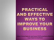 Practical and Effective Ways to Improve Your Business