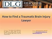 How to Find a Traumatic Brain Injury Lawyer