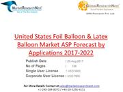 United States Foil Balloon & Latex Balloon Market ASP Forecast by Appl