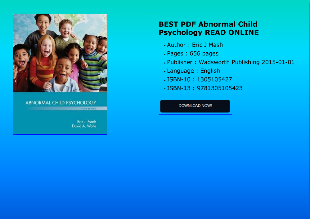 Best Pdf Abnormal Child Psychology Read Online Authorstream