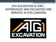 Experienced Mini Excavator Hire Services in Wollongong