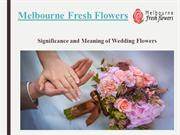 Significance and Meaning of Wedding Flowers – Melbourne Fresh Flowers