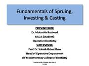 Fundamentals of Spruing Investing Casting