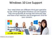 Windows 10 Live Support  1-888-352-9606