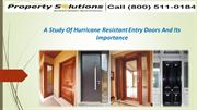 Hurricane Resistant Entry Doors And Its Importance