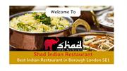 Shad | Best Indian Restaurant in Borough London SE1