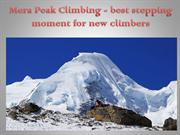 Mera Peak Climbing - best stepping moment for new climbers