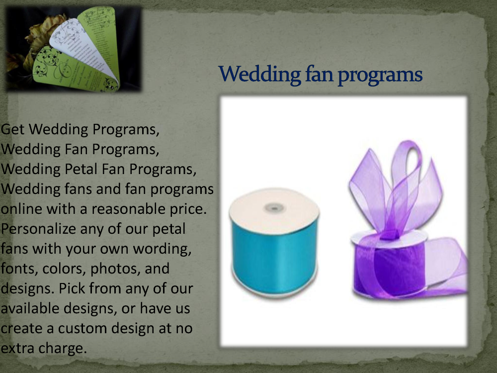 buy wedding fans and fan programs online with a reasonable price