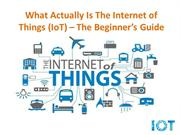 The Internet of Things (Beginners Guide)