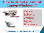 how to reboot a crashed laptop windows 1-877-227-5694
