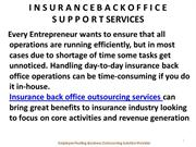 Insurance Back Office Outsourcing Services - Employee Pooling