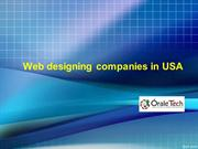 Web designing companies in USABest web Designing company in USA