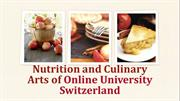 Nutrition and Culinary Arts of Online University Switzerland