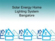 solar energy home lighting system bangalore