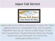 Book Best Taxi For Jaipur Sightseeing