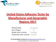 United States Adhesion Tester by Manufactures and Geographic Regions 2