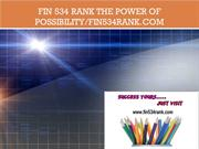 FIN 534 RANK The power of possibility/fin534rank.com