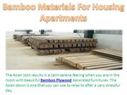 Bamboo Materials For Housing Apartments