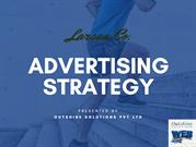 Advertising Strategy Presentation By Outshine Solutions