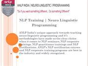 NLP Certification Courses