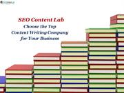 SEO Content Lab - Choose the Top Content Writing Company for Your Busi