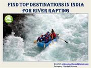 Find top destinations in India for River Rafting