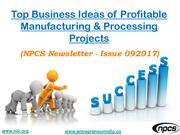 Top Business Ideas of Profitable Manufacturing & Processing Projects