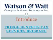 Tax accountants provides you Fringe Benefits tax services