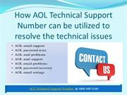 AOL Technical Support Number 1 800 509 5140