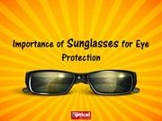 Importance of Sunglasses for Eye Protection