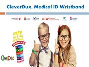 Custom Silicone Wristbands - CleverDux, Medical ID Wristband