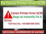 +44-800-046-5291 troubleshoot Canon Printer Error code 5C20