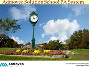 Admoveo Solution School PA System
