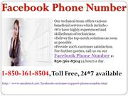 Get Free Technical  Using Facebook Phone Number 1-850-361-8504