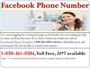 Buzz Facebook Phone Number While FB Login Issue 1-850-361-8504