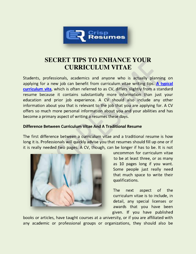secret tips to enhance your curriculum vitae authorstream