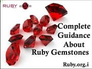 Complete Guidance About Ruby Gemstones