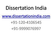 WWW.DISSERTATIONINDIA.COM