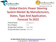 Global Electric Power Steering System Market By Manufacturers, States,
